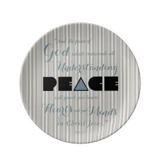Prato Paz cristã do deus