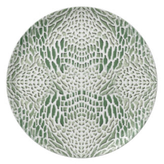 Prato pele verde de serpente