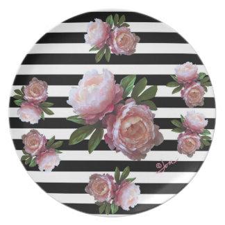 """Prato Peônia cor-de-rosa 10"""" placa da melamina"""