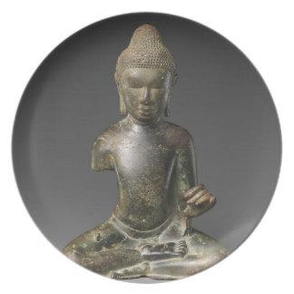 Prato Período assentado de Buddha - de Pyu