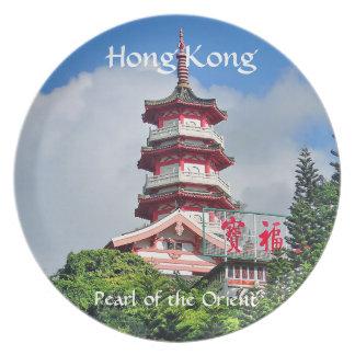 Prato Pérola de Hong Kong da placa da melamina de