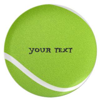 Prato Personalize o partido legal da bola de tênis