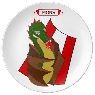 Prato Personnage do dragão de Mons Doudou, Bélgica