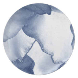 Prato Pétalas azuis pintadas