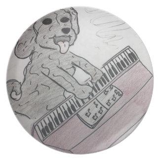 Prato piano do filhote de cachorro