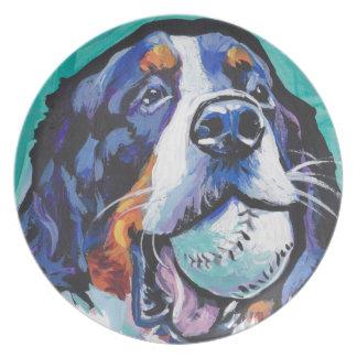 Prato Pintura do pop art do cão de montanha de Bernese