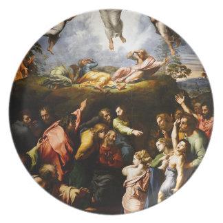 """Prato Pintura original """"a transfiguração"""" Raffaello"""
