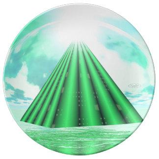 Prato Pirâmide Mystical - 3D rendem