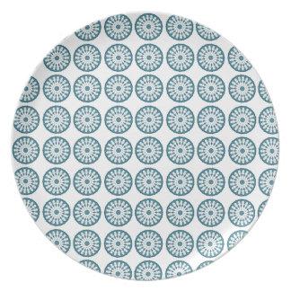 Prato Placa azul da melamina de Mandela