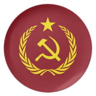 Prato Placa comunista da melamina da bandeira da guerra
