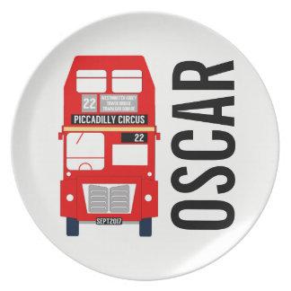Prato Placa Customisable da melamina do ônibus de