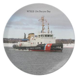 Prato Placa da baía de WTGB 104 Biscyne