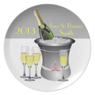 Prato Placa da celebração de Champagne