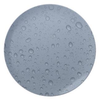 Prato Placa da foto dos pingos de chuva