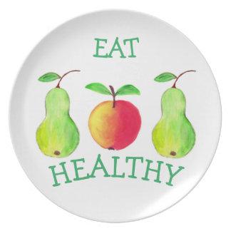 Prato Placa da melamina com frutas da pintura da