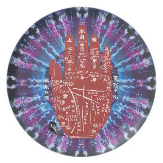 Prato Placa da melamina da Laço-Tintura da palma de