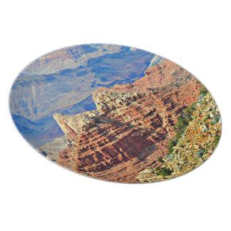 Prato Placa da melamina da paisagem do Grand Canyon