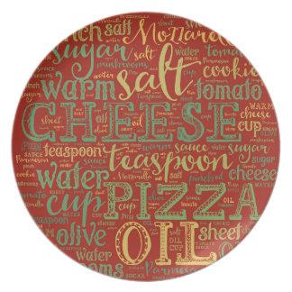 Prato Placa da melamina da pizza