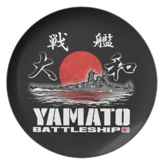 Prato Placa da melamina da placa de Yamato da navio de