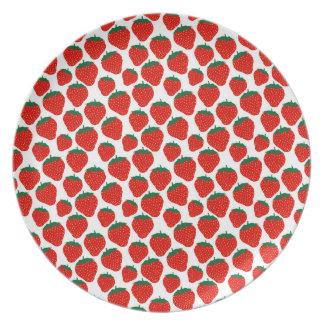 Prato Placa da melamina das morangos