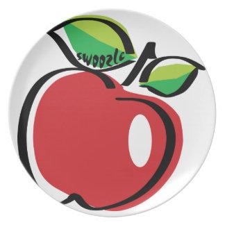 Prato Placa da melamina de Apple Swoozle