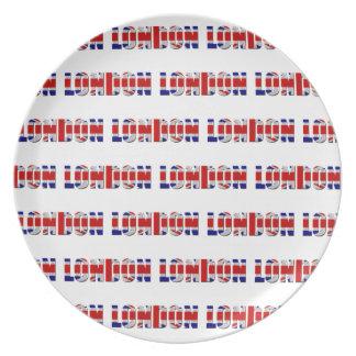 Prato Placa da melamina de Londres
