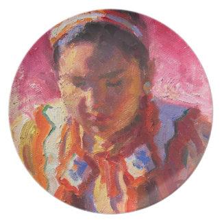 Prato Placa da melamina do dançarino do nativo americano