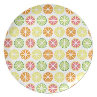 Prato Placa da melamina do teste padrão do citrino