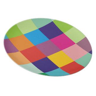 Prato placa da placa do bloco da cor