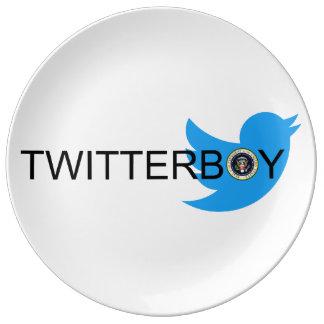 Prato Placa da porcelana de Twitterboy