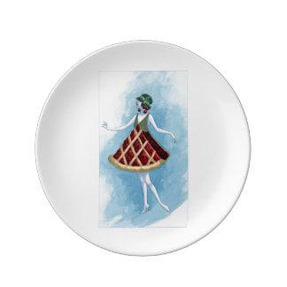 Prato Placa da torta da cereja