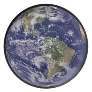 Prato Placa de comensal da terra do planeta