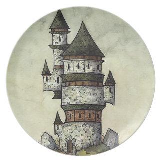 Prato Placa de comensal da torre do feiticeiro da