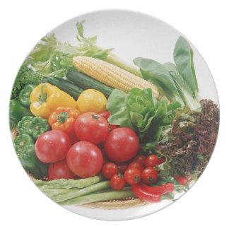 Prato Placa de comensal dos vegetais