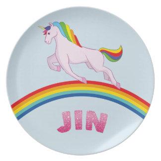 Prato Placa de Jin para crianças