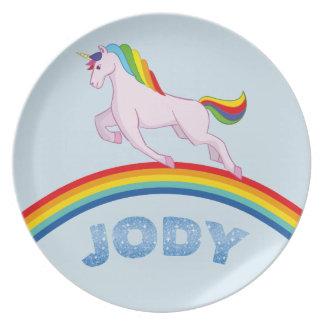 Prato Placa de Jody para crianças