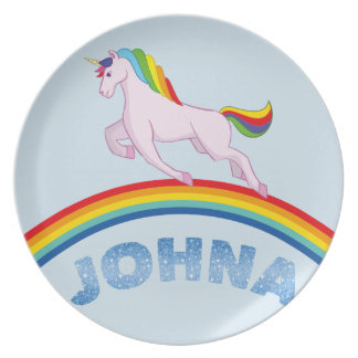 Prato Placa de Johna para crianças