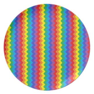 Prato Placa de Rickrack do arco-íris
