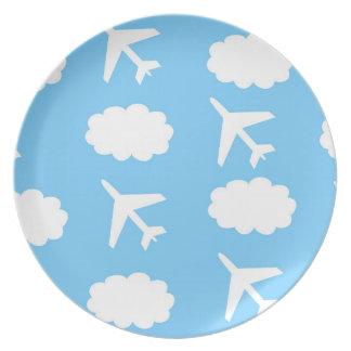Prato Placa do avião