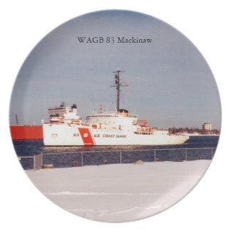Prato Placa do branco de WAGB 83 Makcinaw