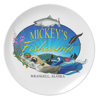 Prato Placa do Fishcamp de Mickey