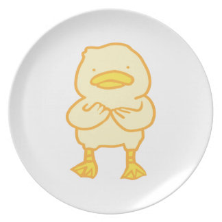 Prato Placa Ducky da melamina