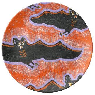 Prato Placa extravagantemente da porcelana do Dia das