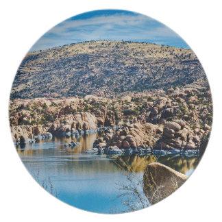 Prato Placa feita sob encomenda da melamina do lago