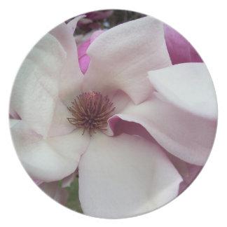 Prato Placa - flor da magnólia de pires