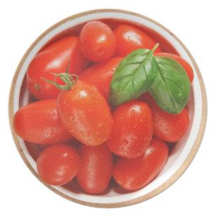 Prato Placa madura vermelha dos tomates
