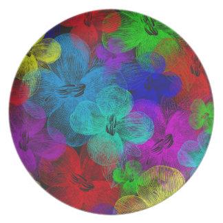 Prato Placa Multi-Florescida da melamina por Julie