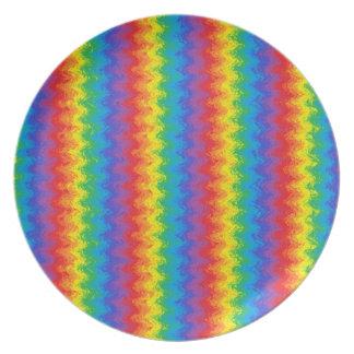Prato Placa ondulada do arco-íris