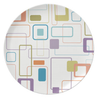 Prato Placa quadrada da melamina da modificação