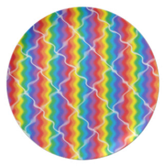 Prato Placa rachada do arco-íris